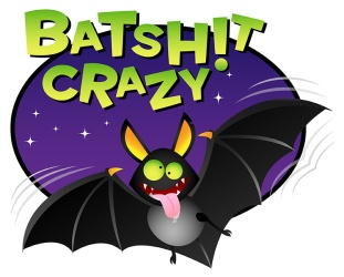 """batsh!t crazy"" t-shirt design"
