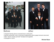 photo restoration & retouching - private client