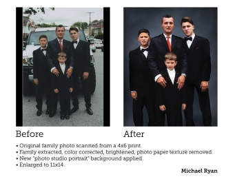 photo restoration & retouching - private client