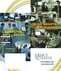"""CART & MTEC"" poster with tear-away card - client: Mercy College"
