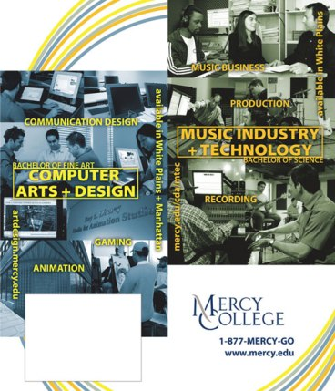 """""""CART & MTEC"""" poster with tear-away card - client: Mercy College"""