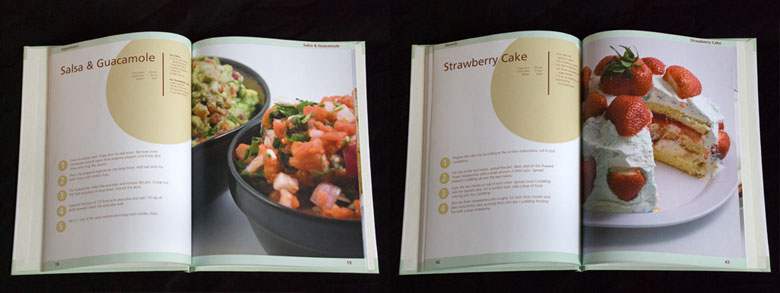 """Homemade Easy"" cookbook design"