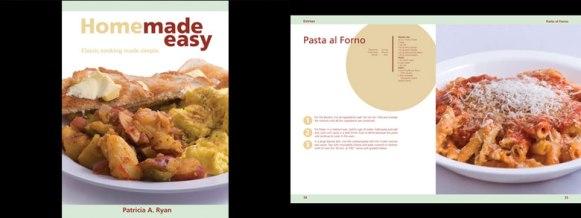 """Homemade Easy"" cookbook design"
