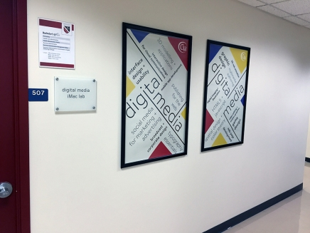 """""""digital media"""" posters - client: The College of Westchester"""