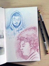Sketching my students
