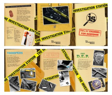 """Investigation Station"" brochure design"