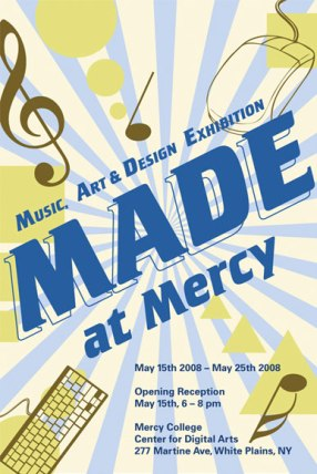 """""""MADE at Mercy"""" postcard - client: Mercy Colleg"""