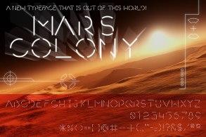 """Mars Colony"" original typeface design"