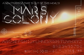 """Mars Colony"" original typeface design"