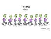 Alien Bob walk cycle - digital