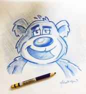 Bear - color pencil
