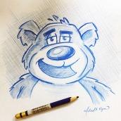 Bear - color pencil