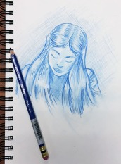 Sketching one of my students