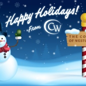Happy Holidays - digital, client: The College of Westchester