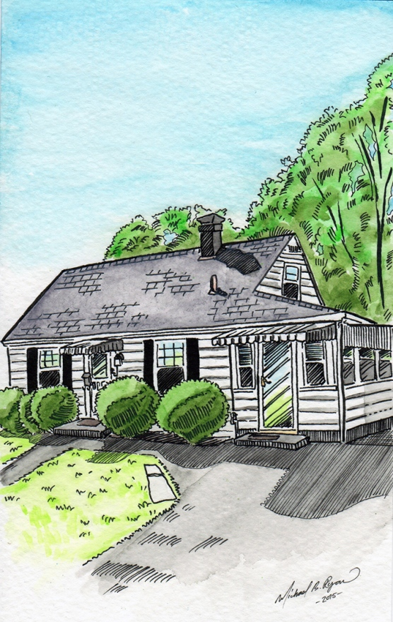 Watercolor: House