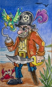 Pirate - color pencils