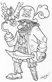 Pirate - line art