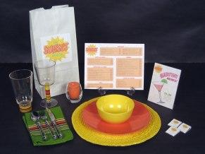 """Sunset House"" branding and menu"