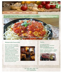 web site design - client: The Tuscan Grille