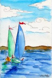 Boats - watercolor