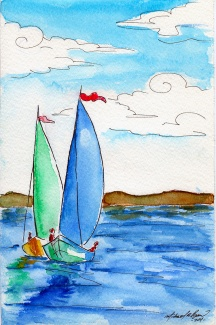 Boats - watercolor
