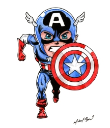 Captain America - color pencils