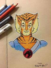 Tygra - color pencils