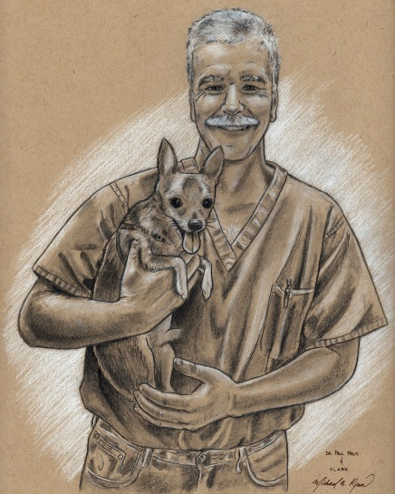 Portrait Drawing: Dr. Maus & Clark