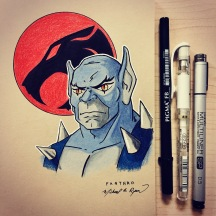 Panthro - color pencils on toned paper