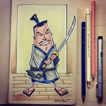 Samurai - color pencils