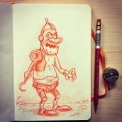 Goofy Trap Jaw - color pencil