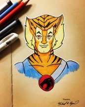 Tygra - color pencils on toned paper