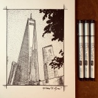 Pen & Ink: Freedom Tower