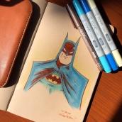 Batman - Copic Markers