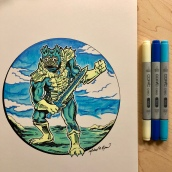 Mer-Man - Copic Markers