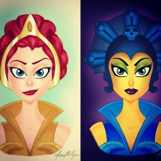 Character Illustrations: Good & Evil
