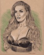Portrait Drawing: TV star Brittany Cartwright (Bravo, Vanderpump Rules)