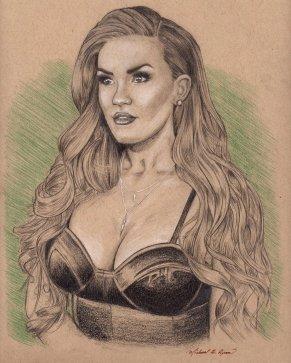 Portrait Drawing: TV star Brittany Cartwright (Bravo, Vanderpump Rules)