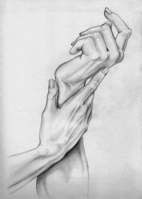 student work: hands