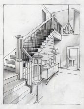 student work: stairs