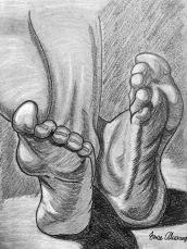 student work: feet