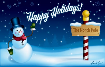 Vector Illustration: Happy Holidays