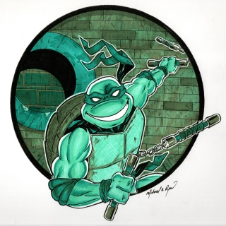 Character Illustration: Ninja Turtle
