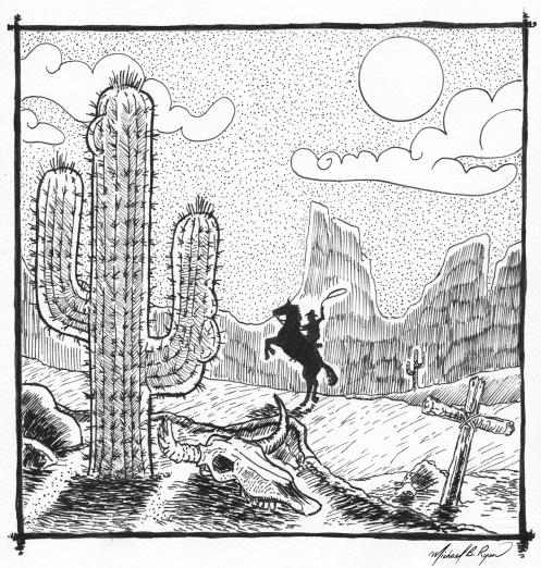 Pen & Ink: Wild West