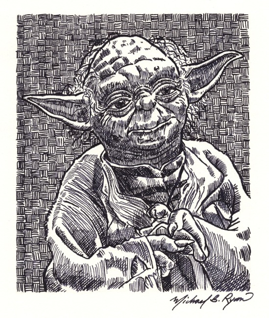 Pen & Ink: Yoda