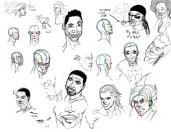 student work: expression studies