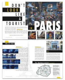 student work: magazine layouts