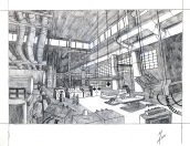 student work: perspective drawing