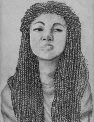 student work: portrait drawing