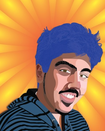 student work: vector portrait